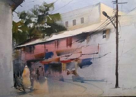 Gadkariwada   Painting by artist Bijay Biswaal   watercolor   Handmade Paper