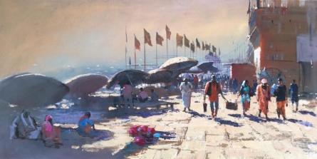 Varanasi 2 | Painting by artist Bijay Biswaal | acrylic | Canvas