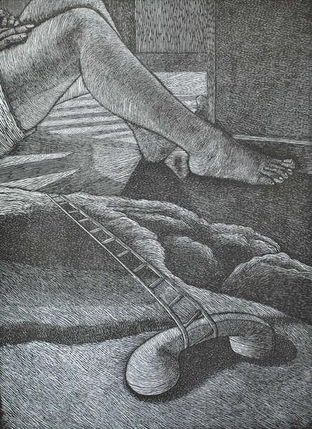 Preya Bhagat | Yet To Be Printmaking by artist Preya Bhagat | Printmaking Art | ArtZolo.com