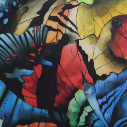 Nature Acrylic-charcoal Art Painting title 'Untitled 2' by artist Ajay De