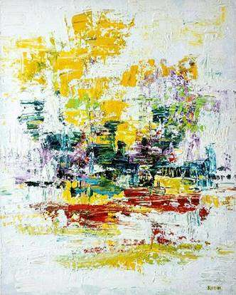 Abstract Acrylic Art Painting title 'Untitled 4' by artist Kamran Azim