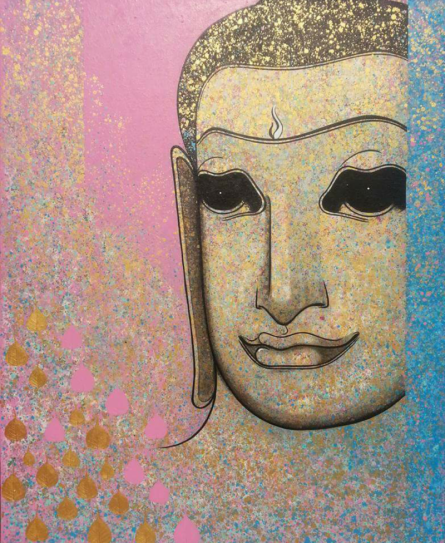 Religious Acrylic Art Painting title 'Untitled 10' by artist Prakaash Chandwadkar