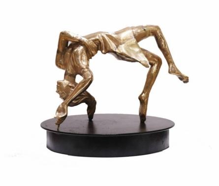 Bronze Sculpture titled 'Dancing Girl 2' by artist Ram Kumbhar