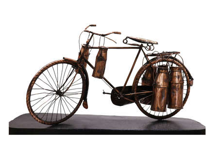 Mixedmedia Sculpture titled 'Milk Delivery' by artist Ram Kumbhar