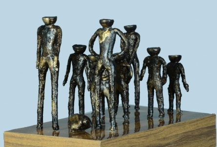 Bronze Sculpture titled 'Scene' by artist Kishor Sharma