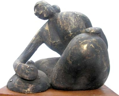 Bronze Sculpture titled 'Untitled 4' by artist Kishor Sharma