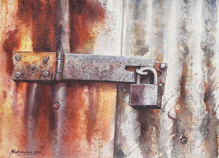Still-life Watercolor Art Painting title Tied and forgotten by artist Mrutyunjaya Dash