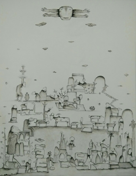 contemporary Acrylic Art Painting title 'Sunshine' by artist Taslim Jamal
