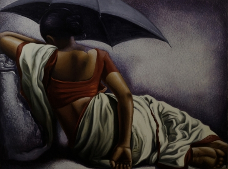 Figurative Acrylic-oil Art Painting title 'Untitled 7' by artist Arya Chowdhury