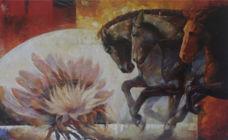 Animals Oil Art Painting title The Aesthetic Of Energy 7 by artist Ashis Mondal