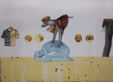 contemporary Mixed-media Art Painting title 'Mobile Mind D' by artist Nandkishor Saindane