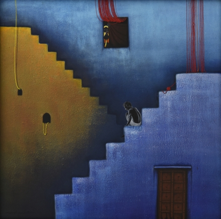 contemporary Acrylic Art Painting title 'Come up my dear' by artist Nirmal Yadav