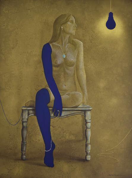 contemporary Acrylic Art Painting title Transition by artist Nirmal Yadav