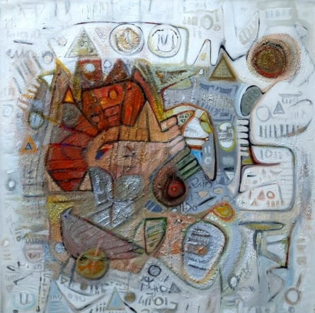 Abstract Acrylic Art Painting title Endless Journey 2 by artist Rajesh Kumar Singh