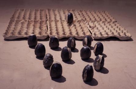 Ceramic Sculpture titled 'Untitled 6' by artist Biswajita Moharana