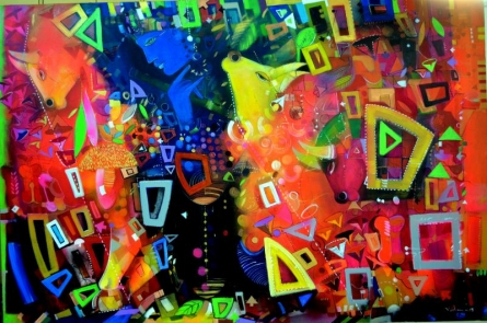 Celebration | Painting by artist Madan Lal | acrylic | Canvas