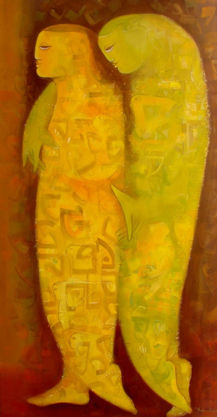 Journey | Painting by artist Madan Lal | acrylic | Canvas