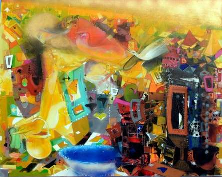 Mirage | Painting by artist Madan Lal | acrylic | Canvas