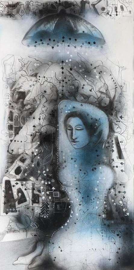 Dream Within Dream   Painting by artist Madan Lal   acrylic   Canvas