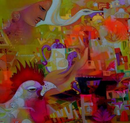 Urban Emotion 2 | Painting by artist Madan Lal | acrylic | Canvas