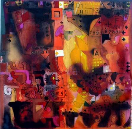 Urban Mirage I | Painting by artist Madan Lal | acrylic | Canvas