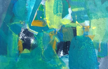 Abstract Acrylic Art Painting title Untitled 23 by artist Satendra Mhatre