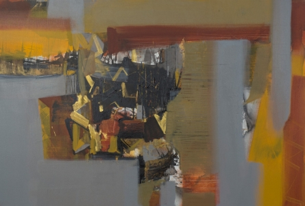 Abstract Acrylic Art Painting title 'Untitled 7' by artist Satendra Mhatre