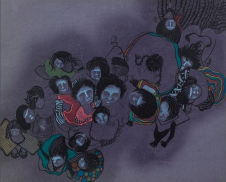 contemporary Mixed-media Art Drawing title 'Untitled 10' by artist Hema Mhatre