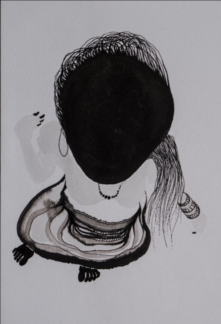 contemporary Ink Art Drawing title 'Untitled 2' by artist Hema Mhatre
