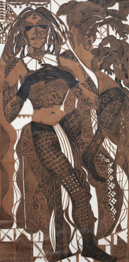 contemporary Pen-ink Art Drawing title 'Desire Us 2' by artist Rajesh Rao