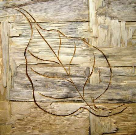 Leafy Wood IV | Painting by artist Somen Debnath | other | wood