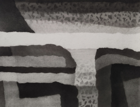 Abstract Charcoal Art Drawing title 'Untitled 1' by artist Munish Sharma