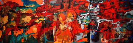 Figurative Acrylic Art Painting title 'Untitled 1' by artist Sunayana Malhotra