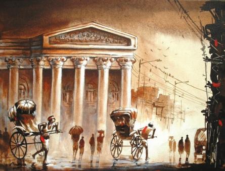 Kolkata IV | Painting by artist Ananda Das | acrylic | Canvas