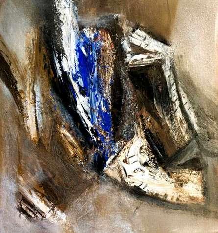 Arun K Mishra | Acrylic Painting title Abstract on Canvas | Artist Arun K Mishra Gallery | ArtZolo.com