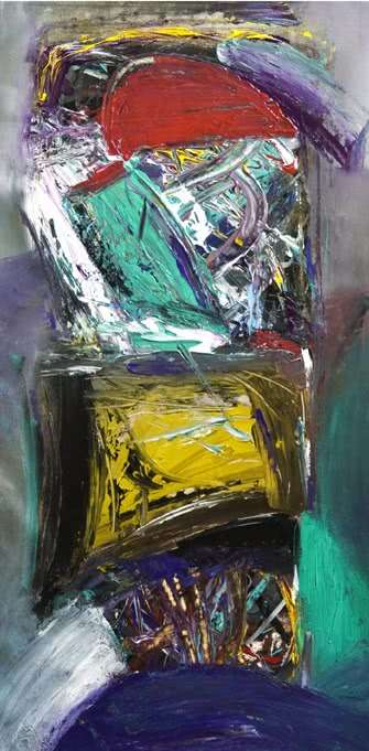 Color Stroke Abstract | Painting by artist Arun K Mishra | acrylic | Canvas