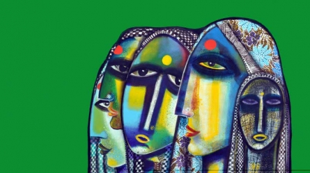 Sisters | Painting by artist Arun K Mishra | acrylic | Canvas