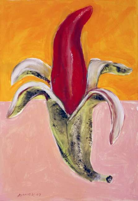 Banana | Painting by artist Arun K Mishra | acrylic | Canvas