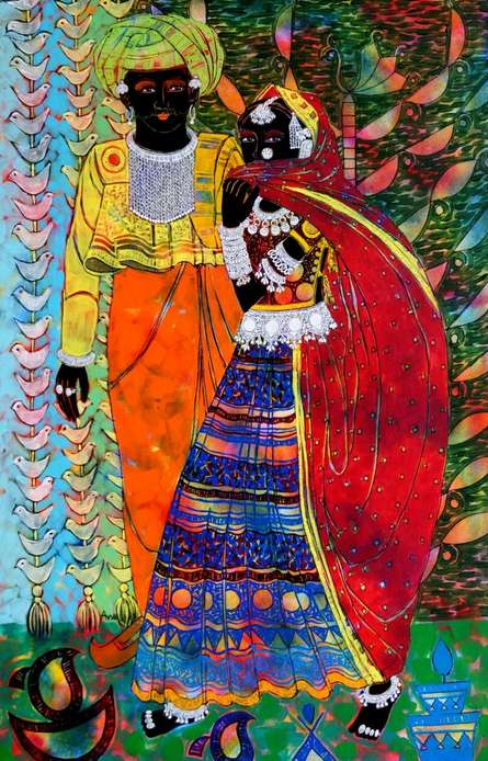 Rhythm 22 | Painting by artist Anuradha Thakur | acrylic | Canvas