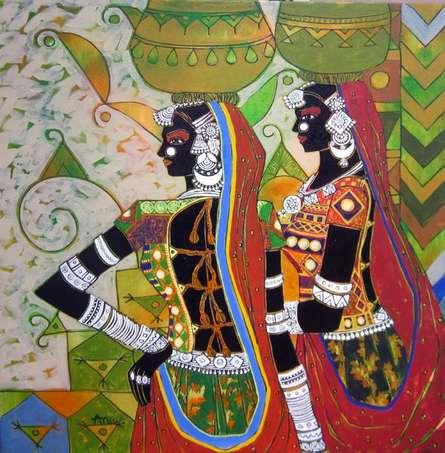 Serene Harmony - 48   Painting by artist Anuradha Thakur   acrylic   Canvas