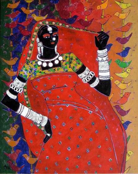 Serene Harmony - 29 | Painting by artist Anuradha Thakur | acrylic | Canvas