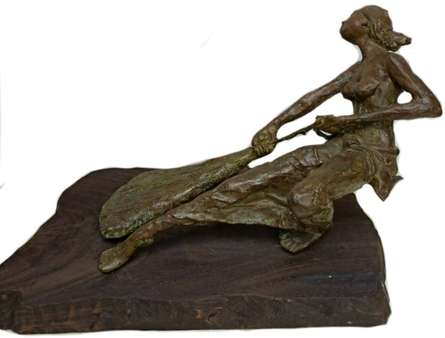 Bronze Sculpture titled 'Fighter' by artist Chaitali Chanda