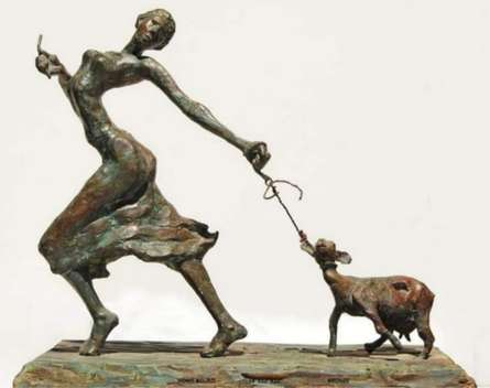 Bronze Sculpture titled 'Home Bound' by artist Chaitali Chanda