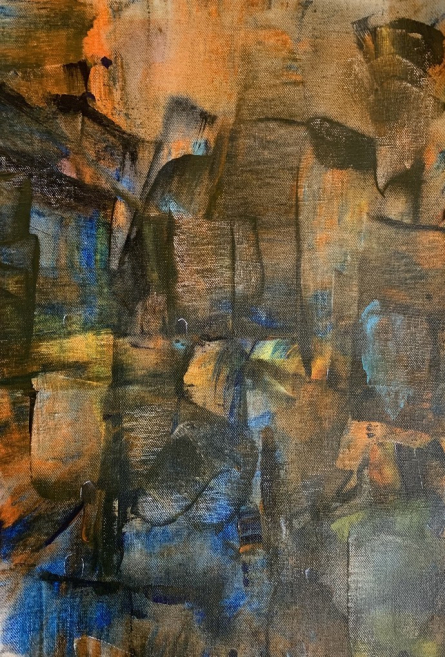 Cityscape Acrylic Art Painting title Cityscape-Abstract by artist Amit Pithadia