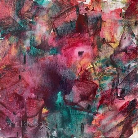 Cityscape Acrylic Art Painting title Cityscape- by artist Amit Pithadia