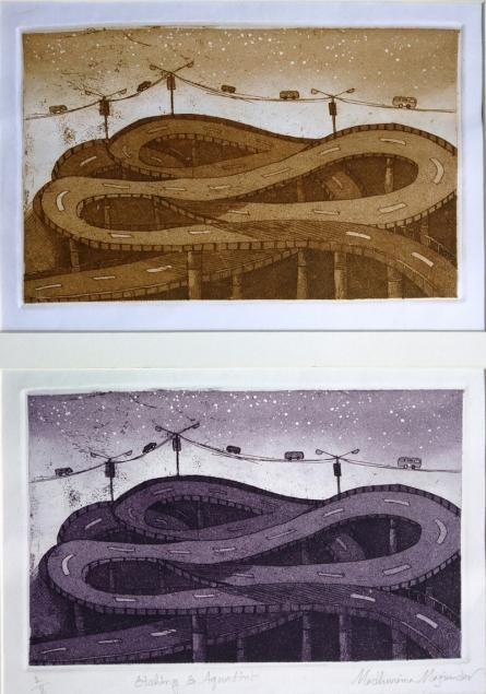 Madhurima Majumder | My City 2 Printmaking by artist Madhurima Majumder | Printmaking Art | ArtZolo.com