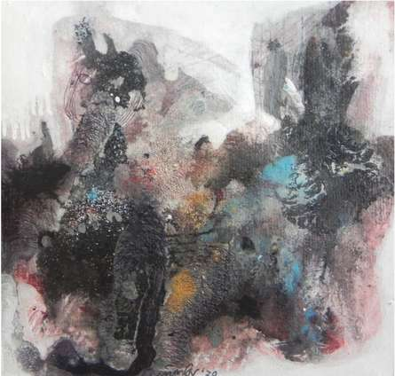 art, painting, mixedmedia, paper, abstract