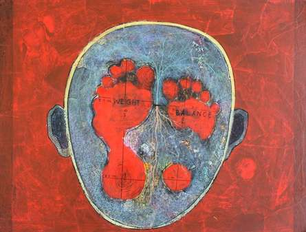 contemporary Acrylic Art Painting title 'Untitled 8' by artist Susanta Chowdhury