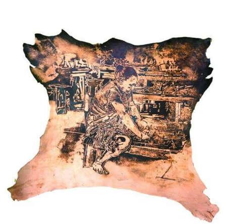 art, mixedmedia, leather, contemporary