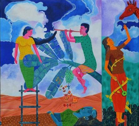 Chronicle Of The Ecstasies Copy | Painting by artist Gayatri Artist | acrylic | Canvas